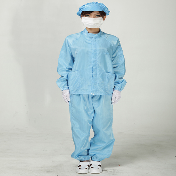 Anti static clothes and Cleanroom Clothes working clothes ESD Jacket Clothes Color  Blue ( Include Trousers) 500 grams about 750pcs milky latex rubber powder free working protective finger sets anti cutting cleanroom esd work gloves