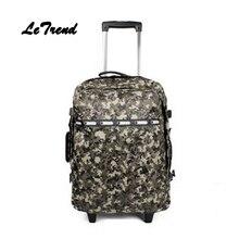 Letrend корейский Оксфорд Роллинг багажа большой емкости для отдыха дорожная сумка рюкзак женщин милые чемоданы колеса тележки нести сумку