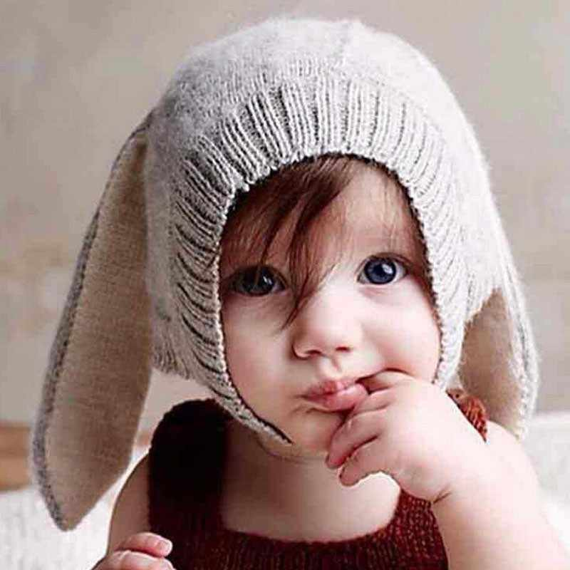 Baby Hat For Girls Baby Boy Hat Toddler Infant Knitted Rabbit Long Ear Hat Baby Bunny Beanie Cap Newborn Photography Props