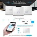EU Standard Broadlink TC2 1/2/3 Gang Wireless Wifi Wall Touch Screen Light Smart Home Module Switch Work with Rm2 Pro