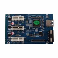 New PCI E Express 1X To 3 Port 1X Switch Multiplier HUB Riser Card USB Cable