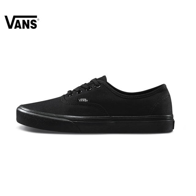 Original 2018 spring new Vans Low-Top Women shoes Skateboarding Sport Shoes Solid color wild shoes classic style