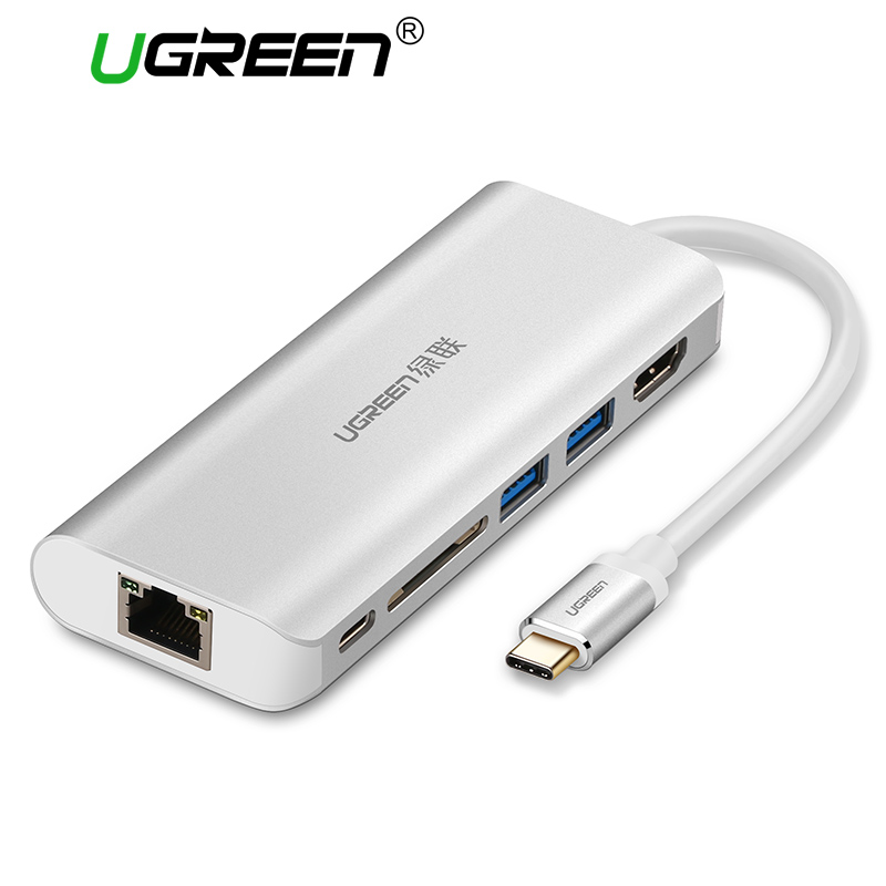 Ugreen All in 1 USB C HUB with Type C PD Power 4K Video HDMI SD Card Reader Gigabit Ethernet Adapter USB-C Type-C 3.0 HUB USB 668 usb 3 1 type c card reader