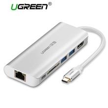 Ugreen все в 1 USB c концентратор с Тип c PD Мощность 4 К видео HDMI SD Card Reader Gigabit ethernet-адаптер USB-C Тип-C 3.0 хаб usb