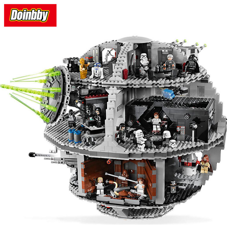 Lepin 05035 3803Pcs Star Series Wars Death Star Building Block Brick DIY Toys Kids Gift Educational Gift Compatible 10188 lepin 05035 3803 pcs star wars death star mini figure model building blocks toys kids gift educational for children 10188