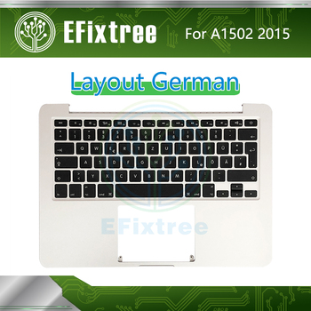 "2015 Year A1502 Keyboard Topcase Backlight Paper For Macbook Pro Retina 13"" Top Case Palmrest DE German 661-0231"