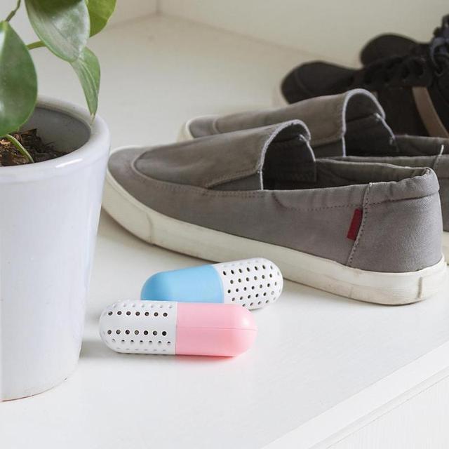 2 pz Deodoranti per scarpe Stretching forma di Pillola Deodorante Sterilizzatore