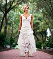 2017 Mermaid Cap Sleeve Backless Vintage Bohemian Lace Wedding Dress Romantic Boho Bridal Gown Robe De Mariage