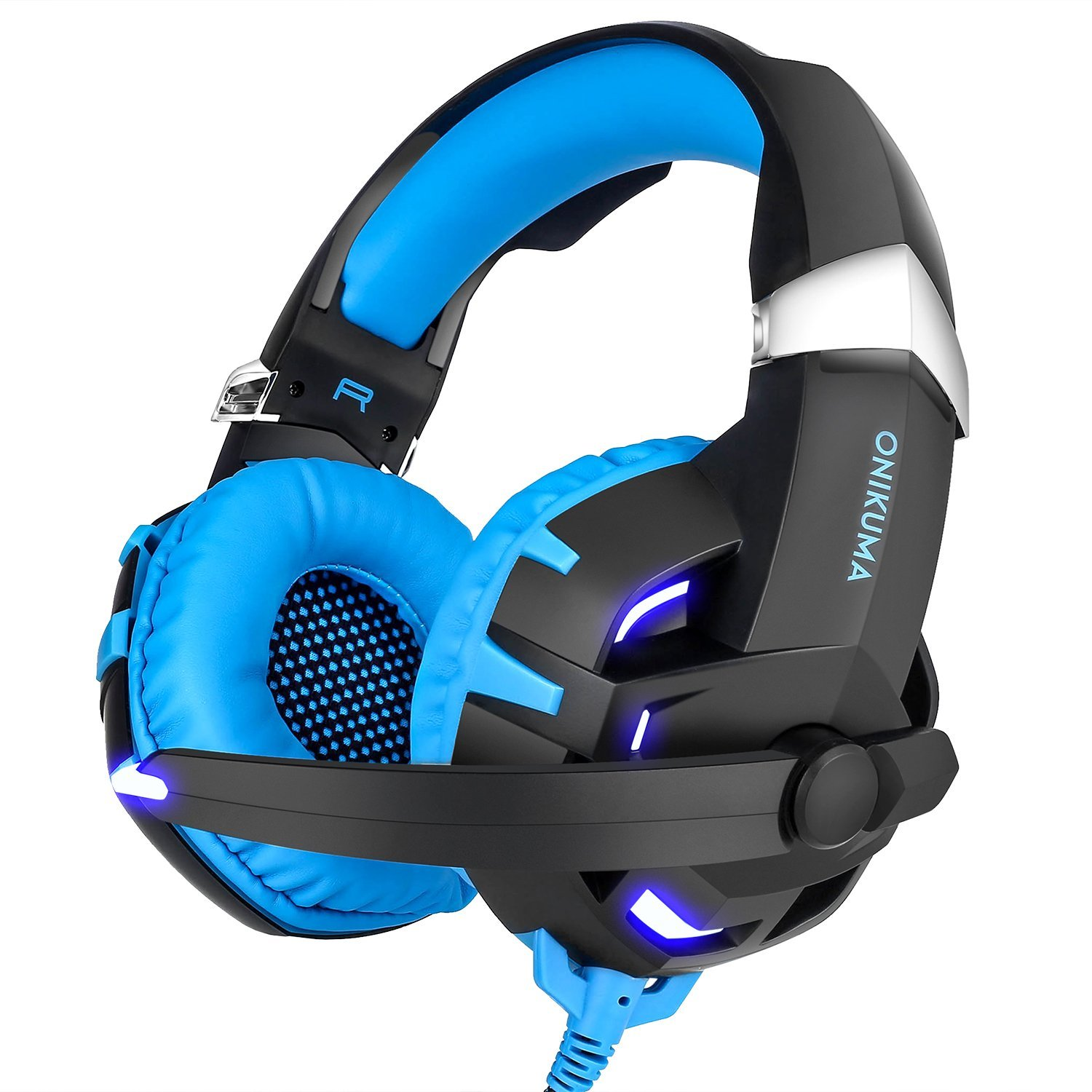 Onikuma K2 USB 7.1 Gaming Headset Casque Gamer Gaming Headphone with LED light Mic Volume Control for PC Computer Laptop