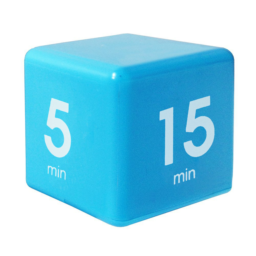 2018 kids Clock Timer Alarm Cube Digital 5, 15, 30, 60 Minutes Time Management White student alarm clock despertador A80