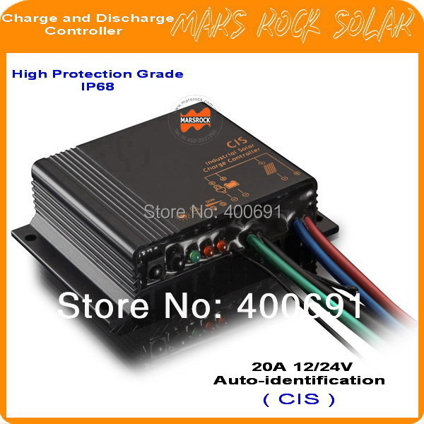 20A 12V 24V Auto-intelligence Solar Charge and Discharge Controller, IP68 High Protection Multi-function for Street Light System special offer solar charge controller 20a 12v24v lightning protection and anti charge over discharge
