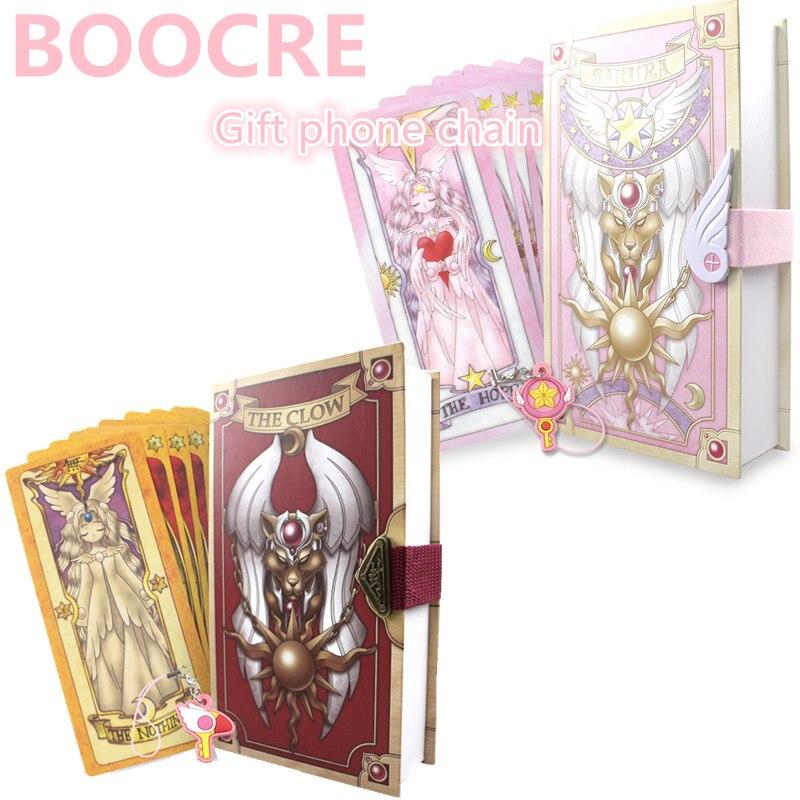 Аниме 53 шт. косплэй Card Captor Sakura KINOMOTO Таро С Clow карты Волшебная Книга набор в коробке Опора подарок телефон цепи