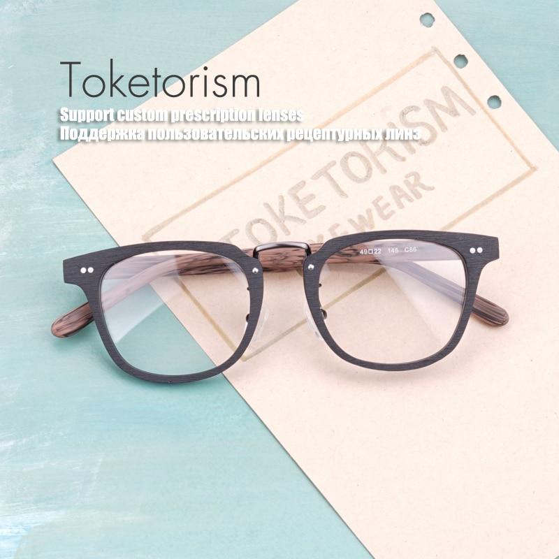 Toketorism Buatan Serat Kayu mode kacamata optik bingkai pria wanita - Aksesori pakaian - Foto 4