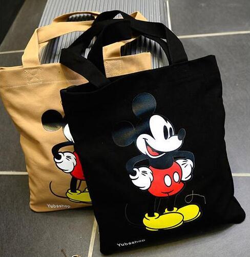 2019 Fashion New Mickey Handbags High Quality Canvas Women Bag High-capacity Shopping Big Shoulder Bag Female Bag Free Shipping