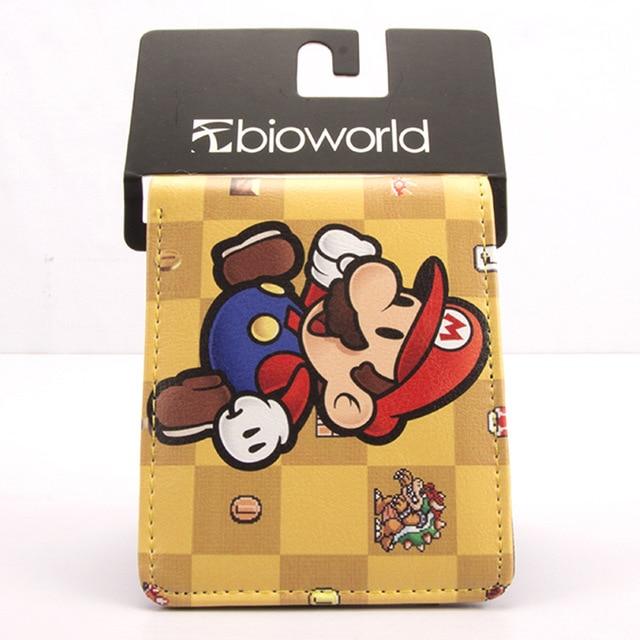 Vintage jeux Super Mary portefeuille Mario Brothers PU cuir court portefeuilles cadeau créatif pour enfants garçon fille porte-monnaie porte-cartes porte-monnaie
