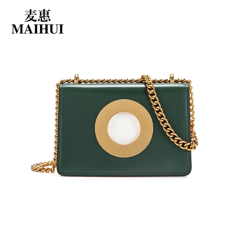 Maihui new fashion real cow genuine leather bag high quality shoulder crossbody bags for women messenger designer chain flap bag brand genuine leather men s ipad tabelt bag cow skin shoulder bag designer crossbody bag high quality real leather messenger bag