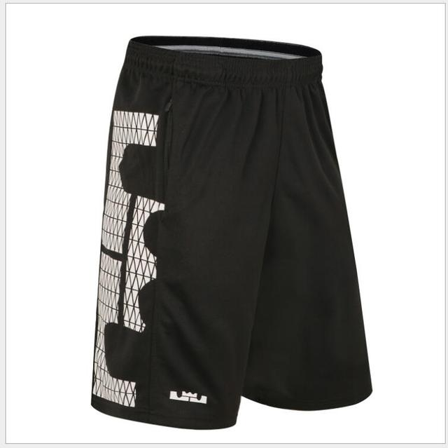 bca101f381cc SYNSLOVEN design line print training basketball running lebron james sport  shorts loose half length plus size with double pocket-in Basketball Shorts  from ...