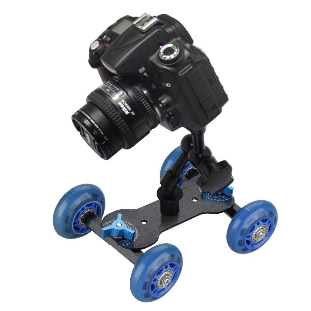 Мини Настольная камера рельсовая Автомобильная настольная тележка Видео слайдер для d5100 d7000 d7100 60d 5dii 5diii 7d DSLR аксессуары