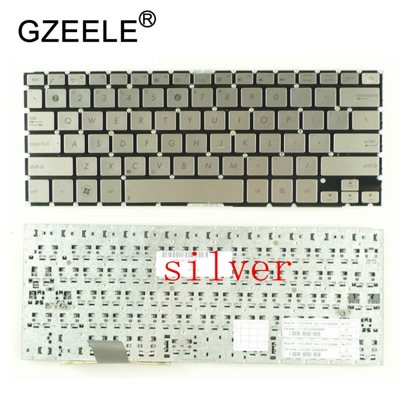 for Asus UX32VD UX32 UI US Layout Backlit with silver C shell Laptop Keyboard