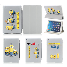 Cute Minions No Denims For Apple Ipad Air 5 /6 Air 2 Leather-based Case Pill Equipment Extremely Flip Leather-based Good Stand Instances Cowl