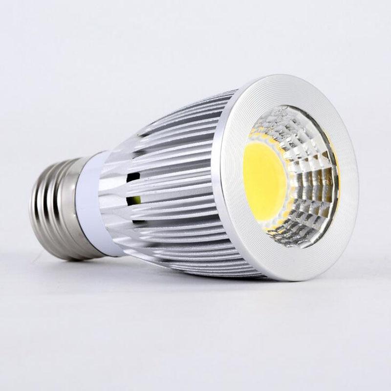 LED Light Bulb High Power Dimmable 15W 20W COB Spotlight E27 GU10 E14 MR16 AC85-265V Warm Cold White Wall Support Dimmer Ceiling