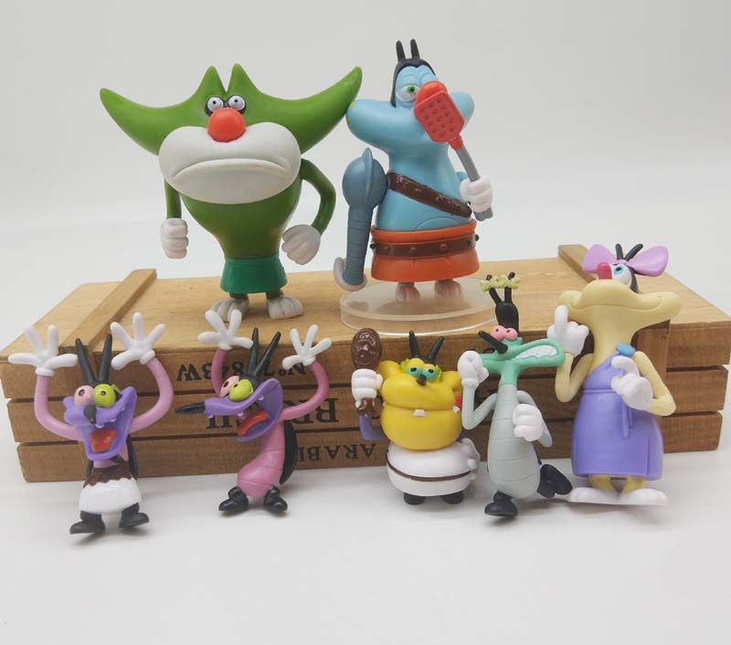 Oggy And The Cockroaches Toy Dolls Oggy Olivia Joey Collection Action Figure Model Toy