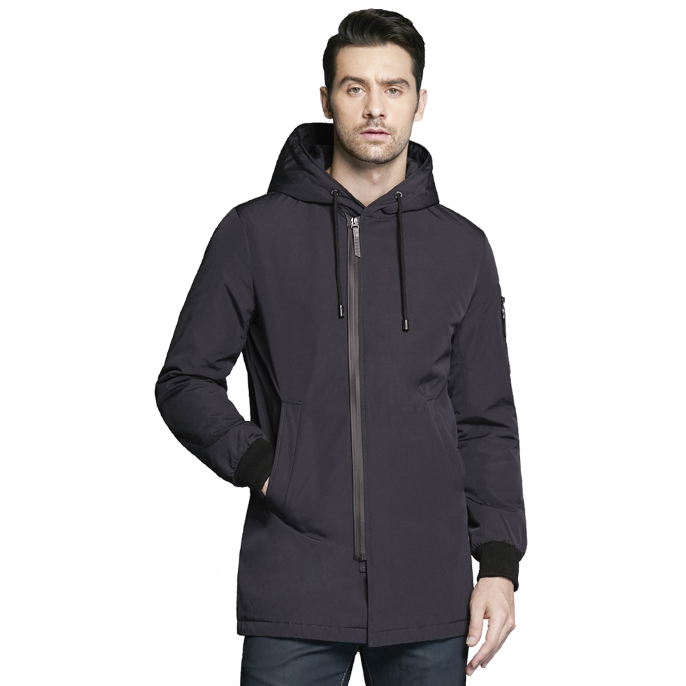 ICEbear 2018 new autumnal men's coat clothing fashion man jacket diagonal placket hooded design high quality clothing MWC18031D men skiing jackets warm waterproof windproof cotton snowboarding jacket shooting camping travel climbing skating hiking ski coat