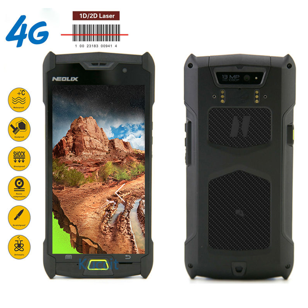 1D 2D Laser Barcode Scanner Android Handheld Terminal PDA data collector Bar Code Reader 4G LTE 2GB RAM 4660mAH For Logistics wireless mini data collector handheld barcode scanner reader laser bar code pos terminal nt 1208 nt9800mini