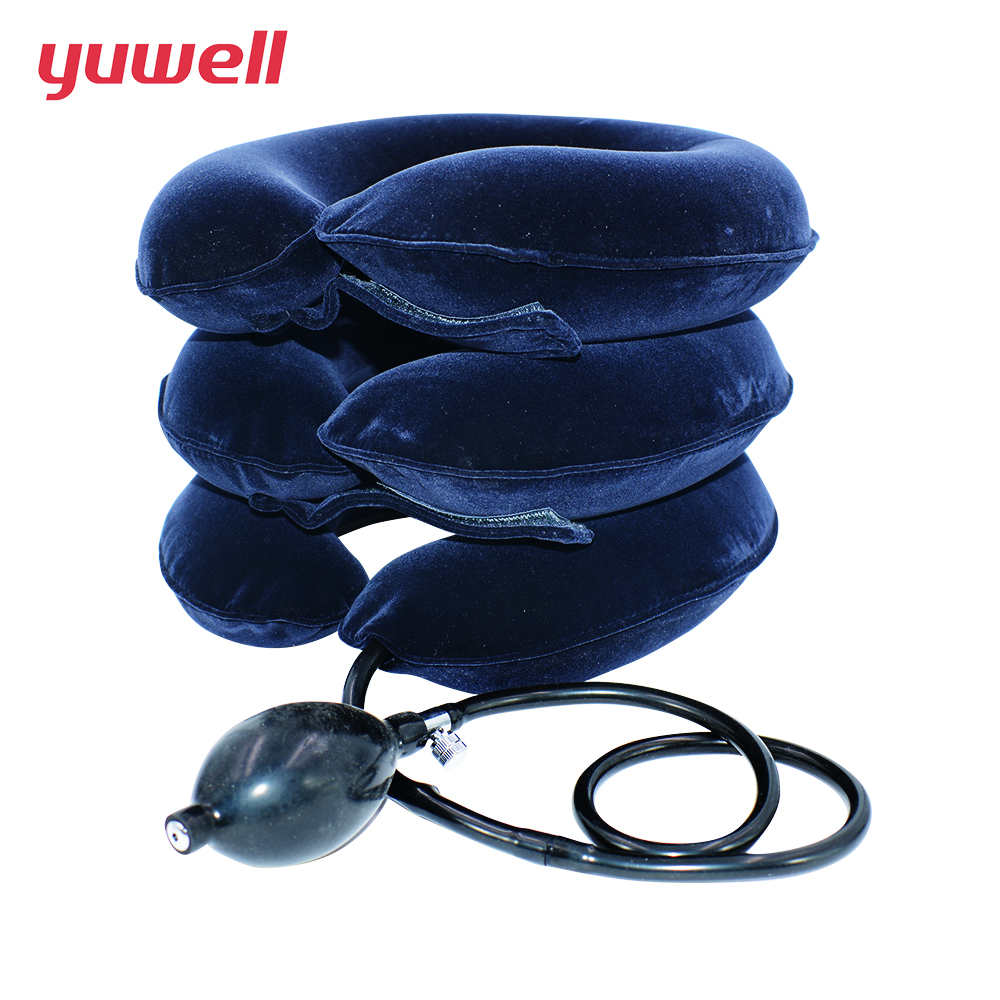 yuwell Cervical Vertebra Collar Traction Support Therapy medical neck brace inflatable neck collar Massager Cushion neck massage adult cervical traction apparatus inflatable support fixed tuohu neck with neck stretching his neck