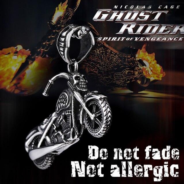 BEIER Motorcycle Skull Necklace Pendant For Men High Quality 316L Stainless Steel Choker Biker Punk Jewelry Gift BP8-130