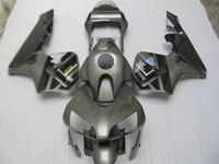 Injection mold ABS aftermarket fairing kit for Honda CBR600RR 2003 2004 gray black fairings set CBR600 RR 03 04 bodykits CF24