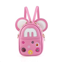 WERLO New Lovely Cartoon Children's Backpack Cute Mickey Baby Girls Bag Pink School BackPack For Kindergarten Baby For Age 2 10Y