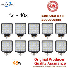 Modoao 1pcs 10pcs waterproof 48w Flood/Spot led Work Light bar waterproof offroad truck car LED work light 12v 24v(China)