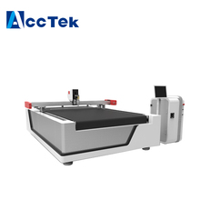 AccTek CNC Oscillating blade leather cutter drawing pen /holes punching Vibrating knife cutting machine 1625 1825 1530 1325