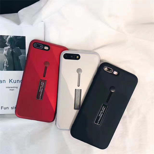 watch d9d95 4bbf8 US $4.28 |Simple Business Black Red Metal Soft phone Cases For iphone 7  case For iPhone 8 8 Plus 7 7 Plus 6 6S Plus Hard Back Fundas Capa-in Fitted  ...