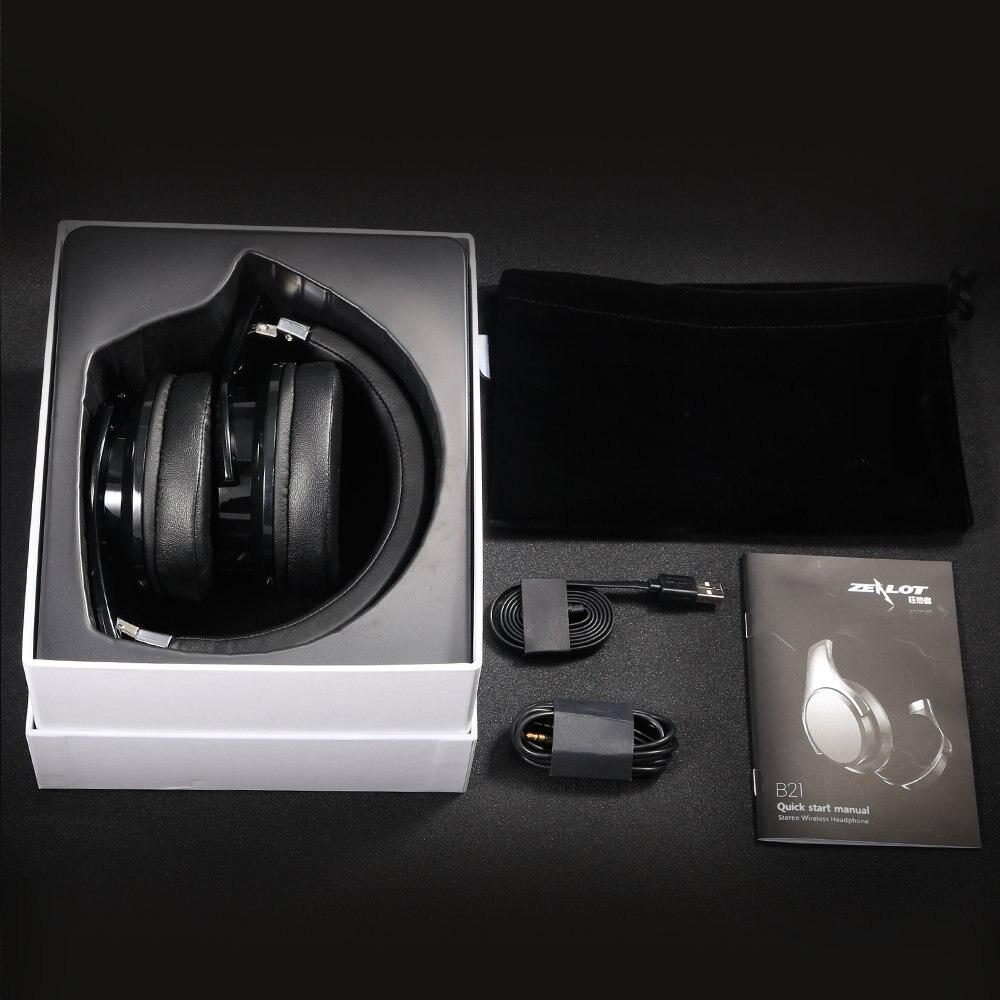 Zealot B21 casque bluetooth hifi Stéréo Basse Écouteur Sans Fil casque avec suppression de bruit avec micro pour Téléphones Touch Control - 6