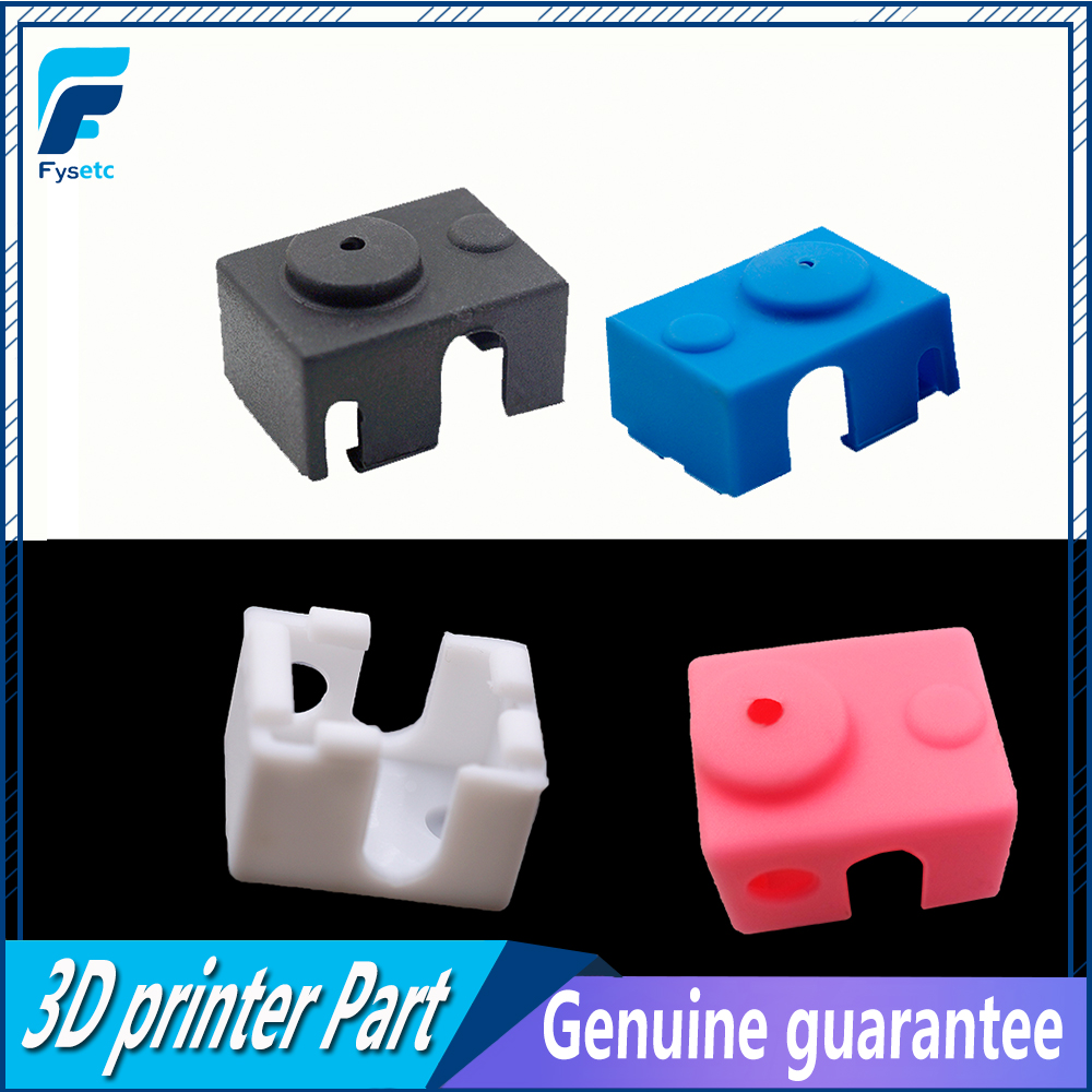 For E3D V6 Silicone Sock 3D Printer Support V6 PT100 Original J-head Hotend 1.75/3.0mm Heated Block Extruder Prusa I3 MK3