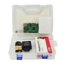 Raspberry Pi 3 kit Raspberry Pi 3 Modelo B + Caso + de LA UE plug power + Cable USB + tarjeta de 16G micro SD + disipador de calor