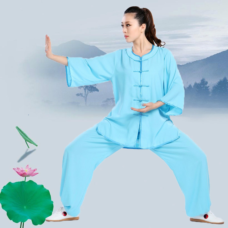 цена High Quality Tai Chi clothing short sleeve Kung fu Uniform Martial arts Morning exercise suit Wushu Clothes онлайн в 2017 году