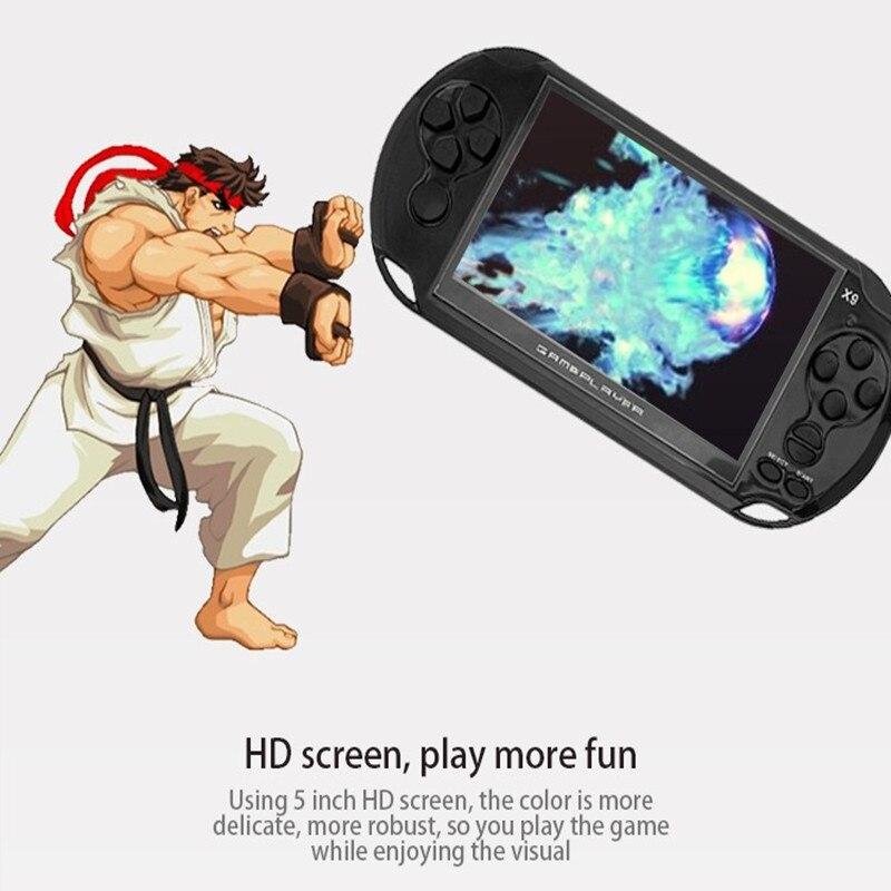 Nueva llegada 5,0 pulgadas de pantalla grande de juego portátil reproductor de TV poner con MP3/película de cámara de Video Multimedia consola de juego - 5