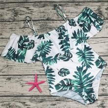 Rroba banje me madhësi femër Plus 2018 Një copë kostum banjosh me lule për femra Big Beach Leaf Beach Swimming Vintage Bather Women