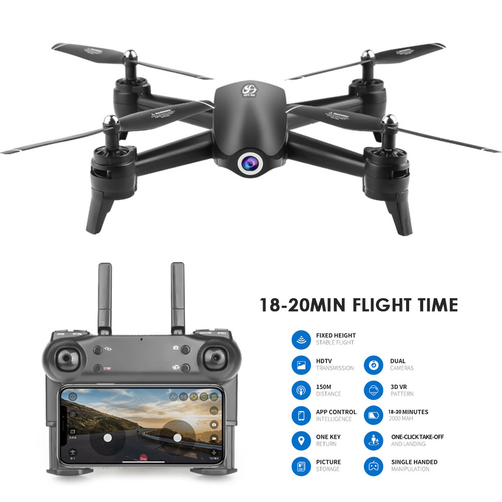 <font><b>S165</b></font> RC <font><b>Drone</b></font> 2.4Ghz WIFI FPV HD 720P 18 Minutes Flight Headless Mode RC Helicopter Quadcopter With Extra Battery image