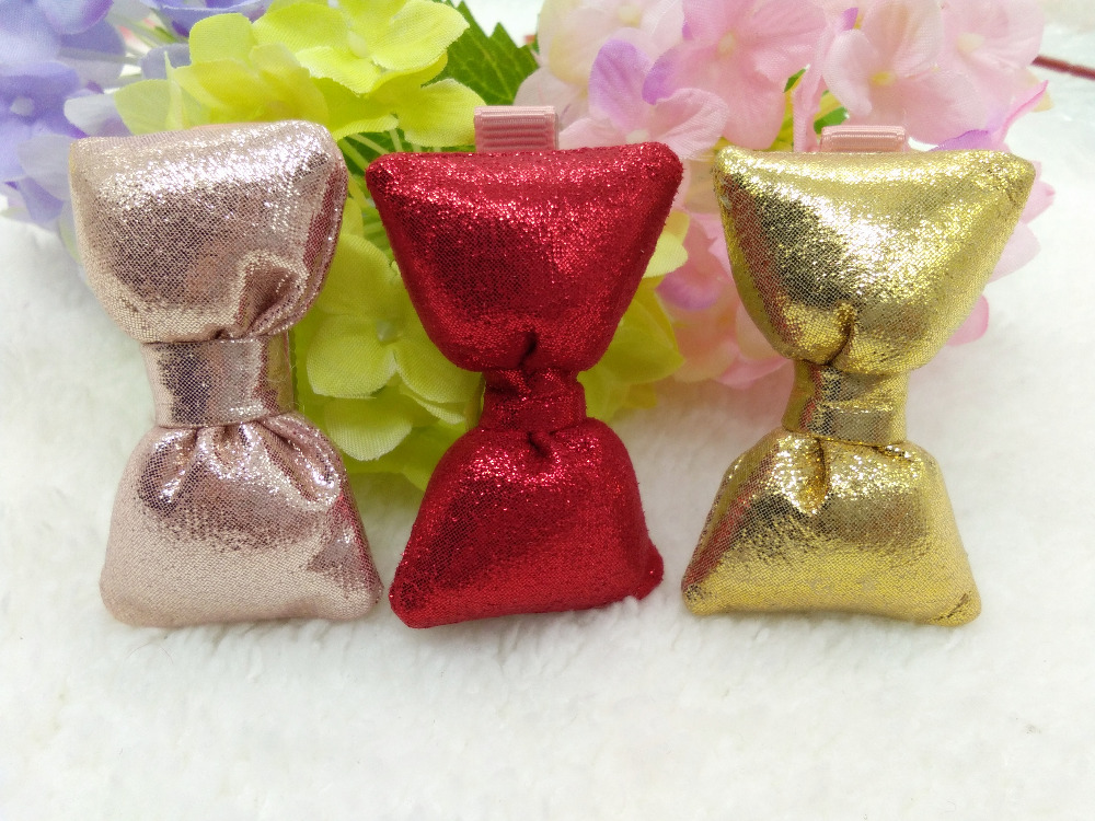 20pcs / 3C Pink Gold Red FashionCute Glitter Hair Bow Girls Hairpins - Accesorios para la ropa - foto 2