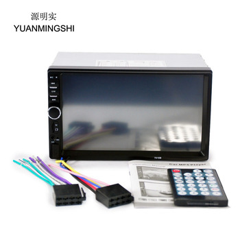 """2 Din Car Radio Player 7"""" HD Touch Screen Bluetooth Rear View Camera Stereo FM/MP3/MP5/Audio/Video/USB Auto Electronics In Dash"""