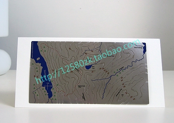 Personalized Metal Decoration Gift Three - Dimensional Variegating Geologic Map Version Type