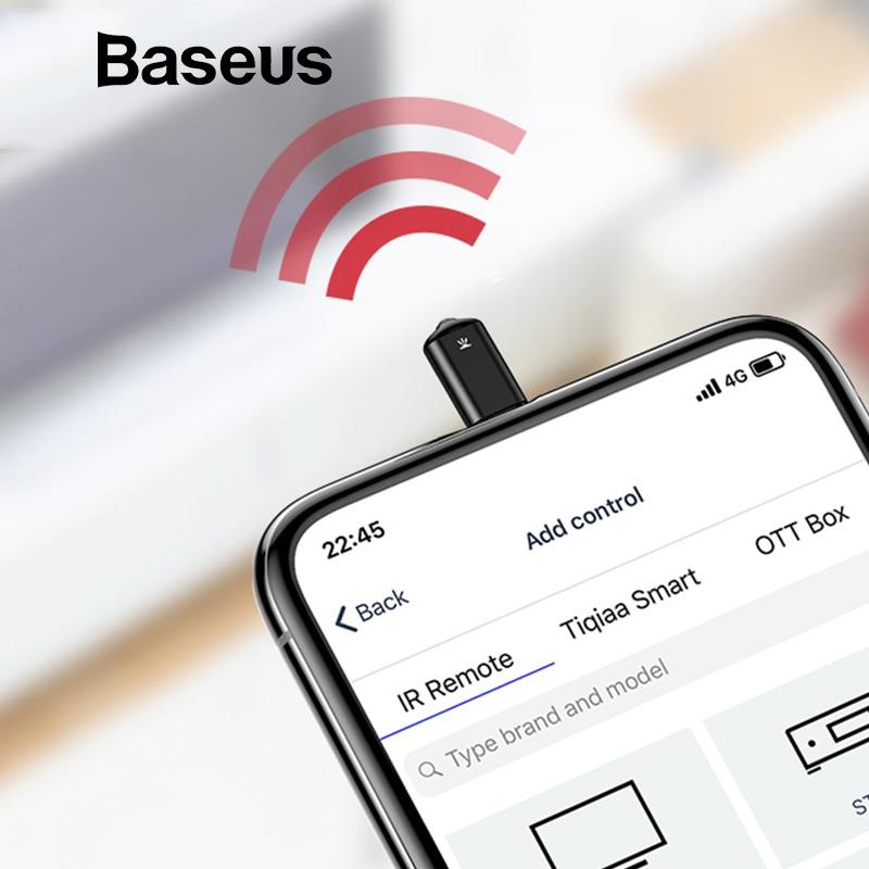 Baseus Universal de control remoto por infrarrojos para iPhone IR inalámbrico inteligente de Control remoto para TV aire acondicionado actualizado soporte iOS 12