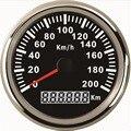 1 шт. 0-200 км/ч спидометры GPS LCD водонепроницаемые скоростные Odographs датчики 85 мм скоростные Mileometers с голубой подсветкой 9-32vdc