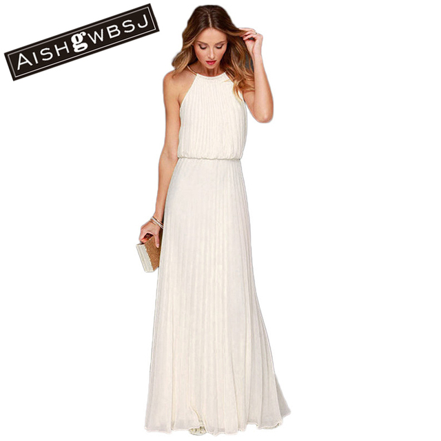 Long white maxi dress sale