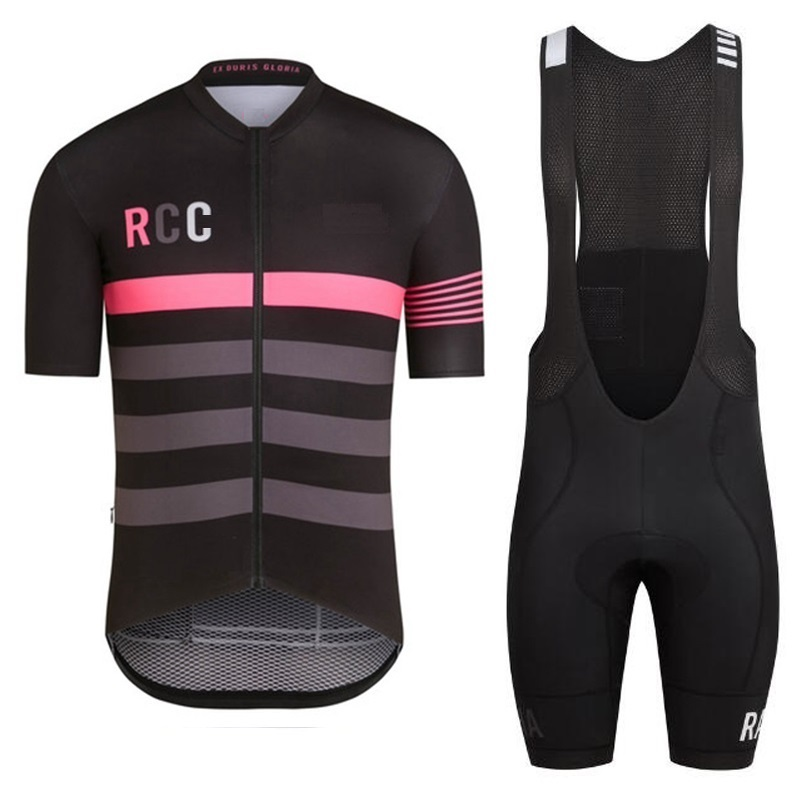 2017 RCC black pink Pro Team short sleeve cycling Jersey summer cycling wear ropa ciclismo +bib shorts 4D gel pad set polyester summer breathable cycling jerseys pro team italia short sleeve bike clothing mtb ropa ciclismo bicycle maillot gel pad