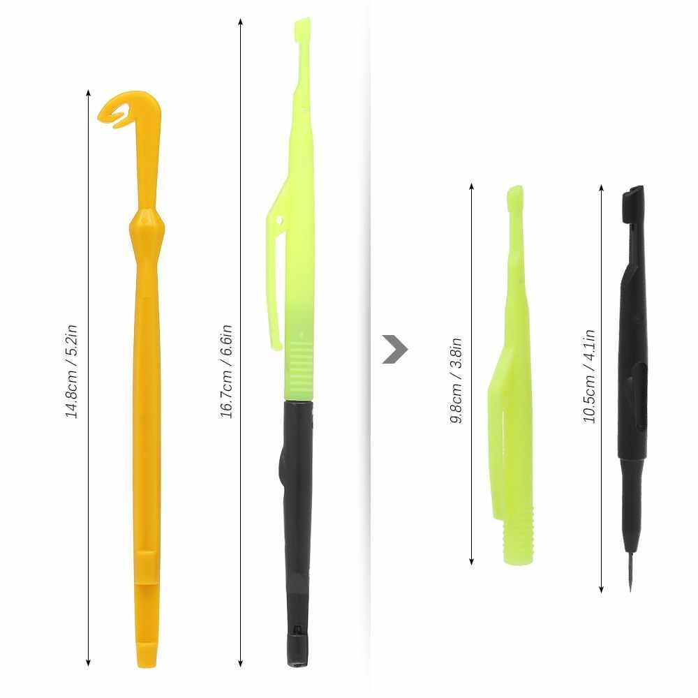Рыболовный сборщик узлов, игла для ловли нахлыстом, петля, инструмент для завязывания узлов, инструмент для удаления рыболовных крючков, рыболовные инструменты, приманки, рыбалка
